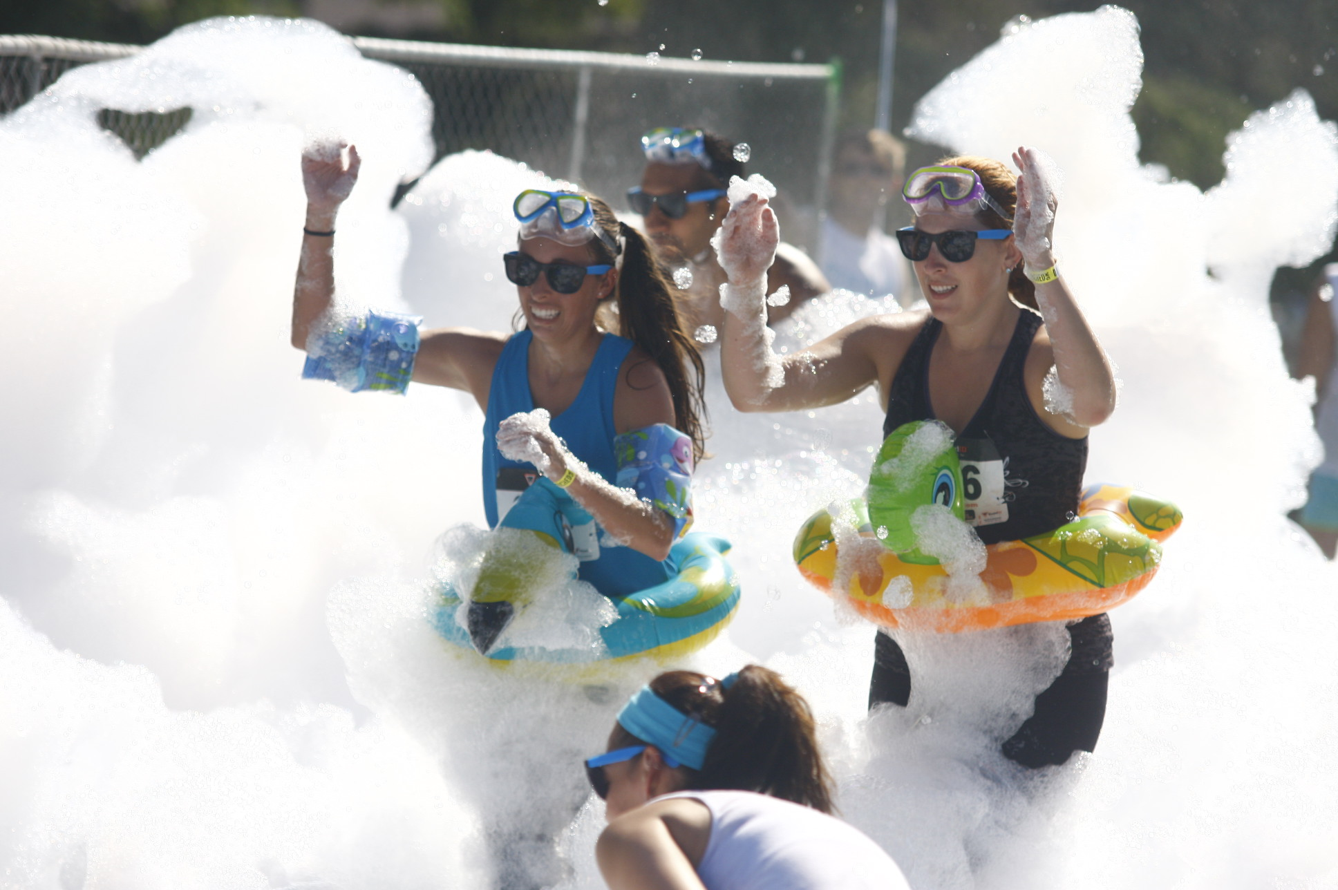 It ends with a 100 foot Slip N' Slide!