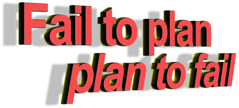 plan to fail What happens when you dont plan things out