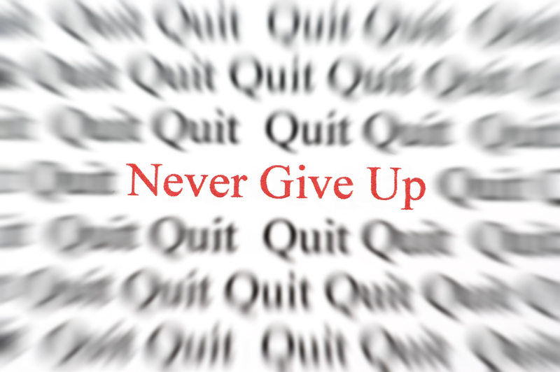 Two powerful examples of never giving up