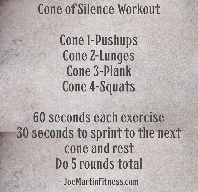 Cone of Silence Workout Ever done The Cone of Silence Workout?