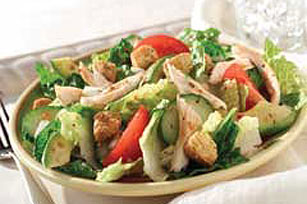 Roasted Red Pepper Chicken and Avocado Salad