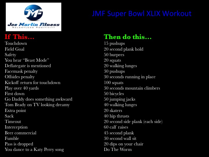 The Super Bowl XLIX Workout