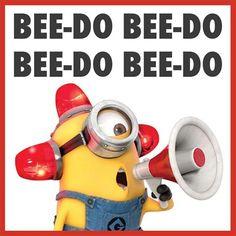 Minion-sounding-alarm