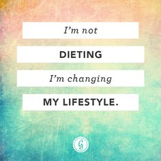 Go for a lifestyle change, rather than a weight loss plan