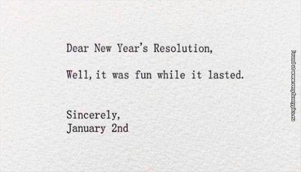 Before you make those resolutions…