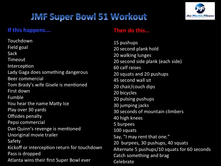 The JMF Super Bowl 51 Workout